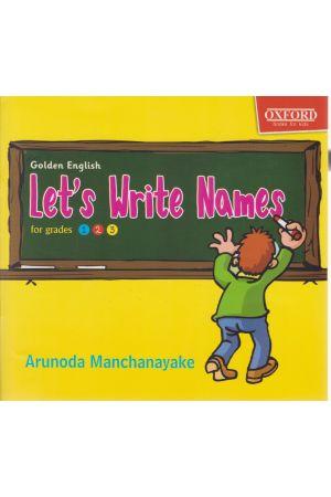 Let's Write Names for grades 1,2,3
