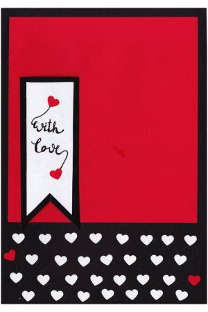 Handmade card - Red Love