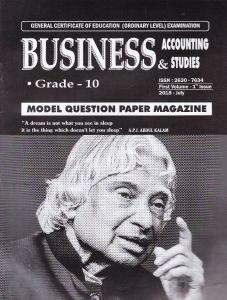 Business & Accounting Studies -Model Question Paper Magazine - Grade 10